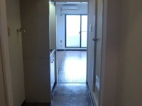 玄関から見た室内(左 洗濯機置場)