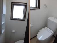 トイレに窓、棚