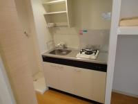 1口ガスコンロ設置済、室内洗濯機置場
