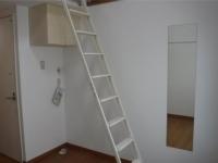 ロフト梯子、洗濯機置場、姿見
