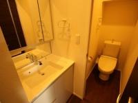 独立洗面.温水洗浄便座付トイレ