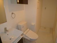 脱衣所、独立洗面台、シャワートイレ、洗濯機置場