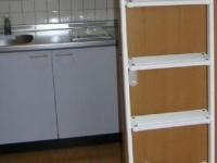 .キッチンスペース ロフト梯子