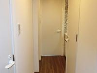 玄関から見た感じ (ドア)左.脱衣室・右.トイレ